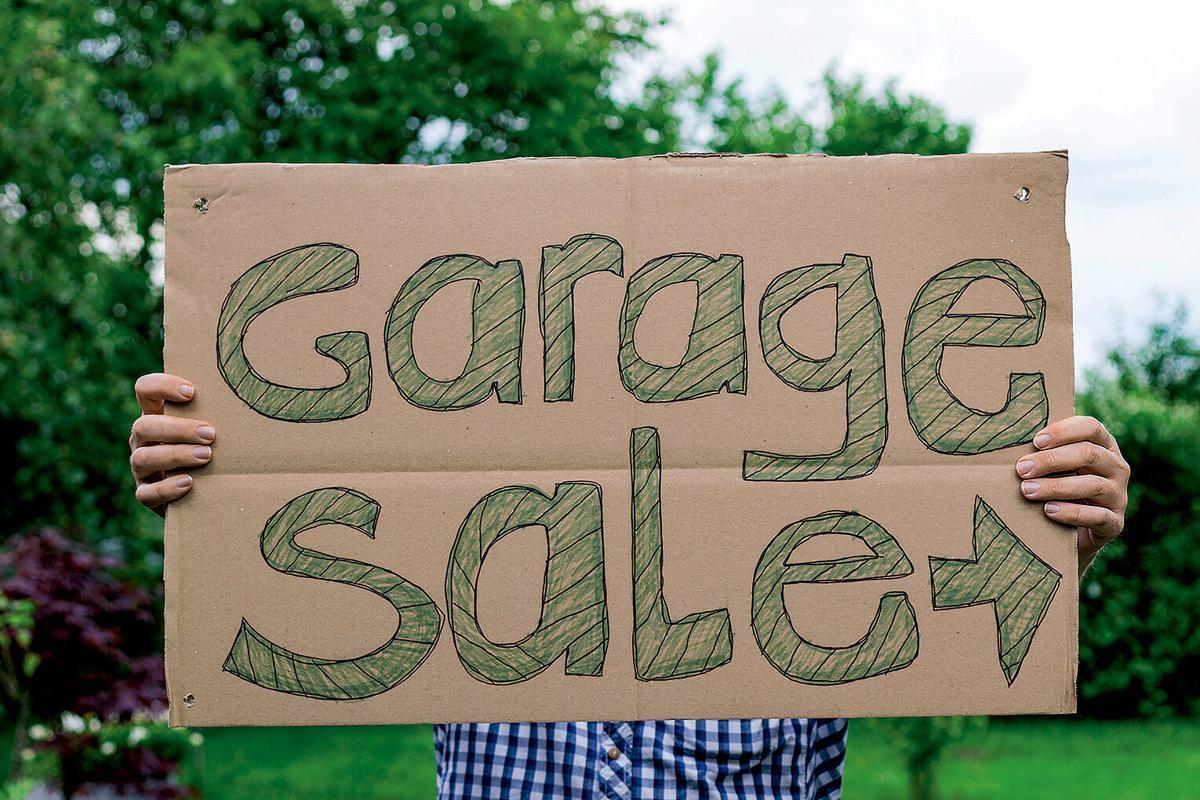 Garage sale RTSA homemade sign