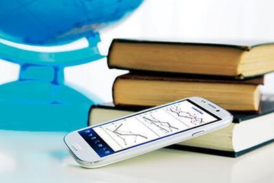 School books, globe and phone RTSA
