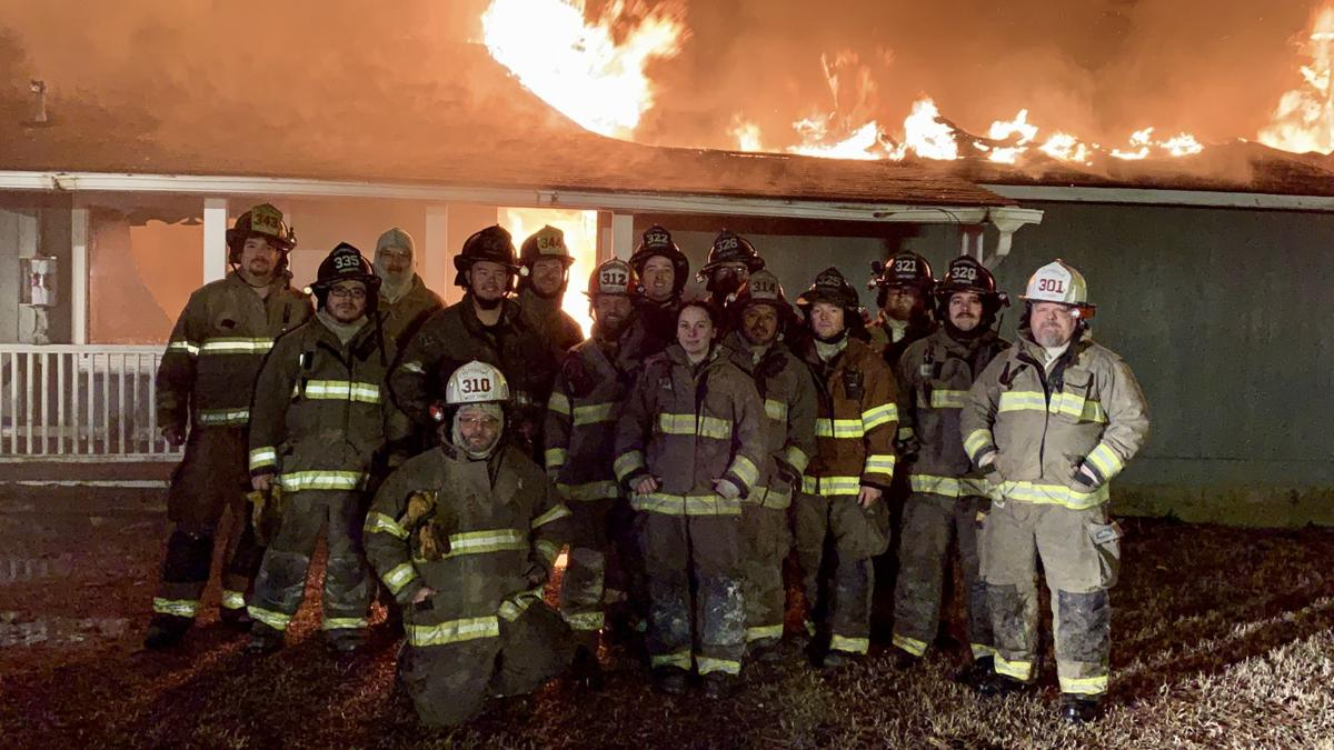 Pottsville Fire Department conducted 'Controlled Live Fire Training' Saturday night,  January 11, 2020