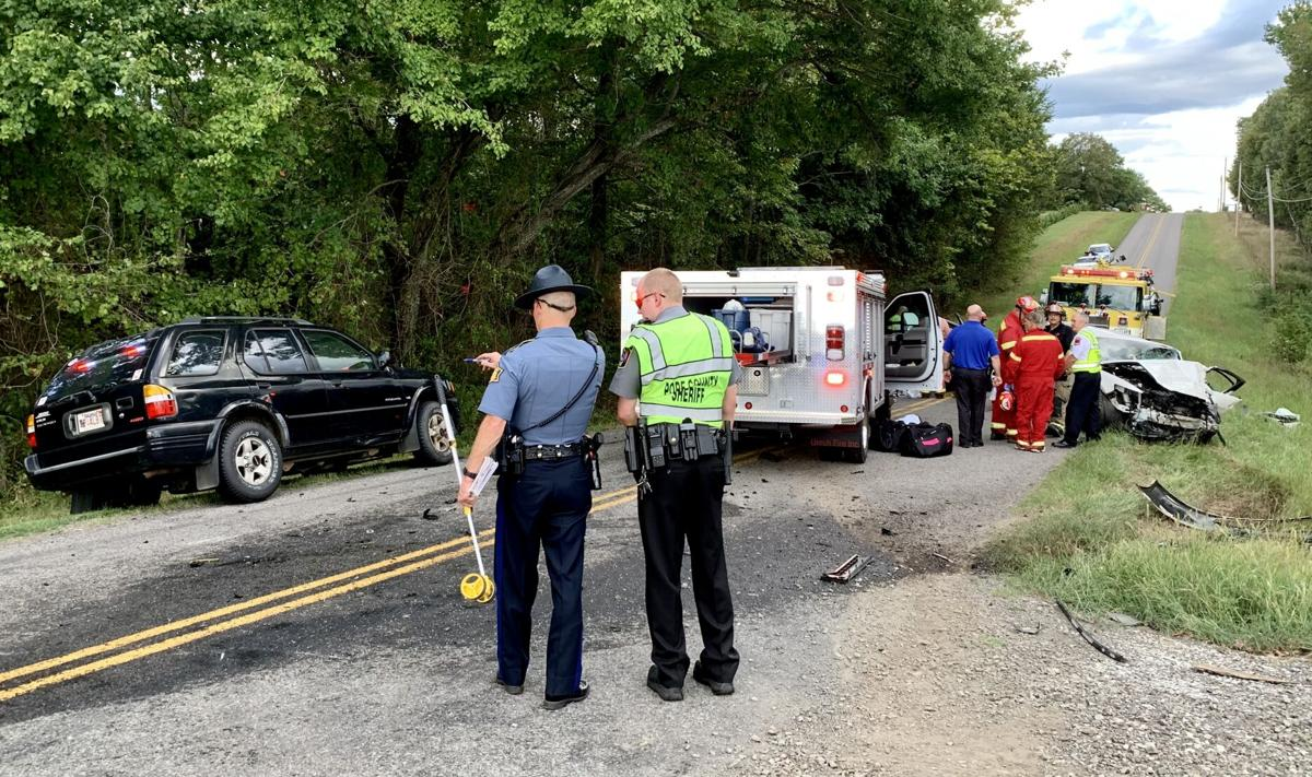 Two patients air lifted for serious injuries after motor vehicle collision with entrapment occurs on Crow Mountain Road