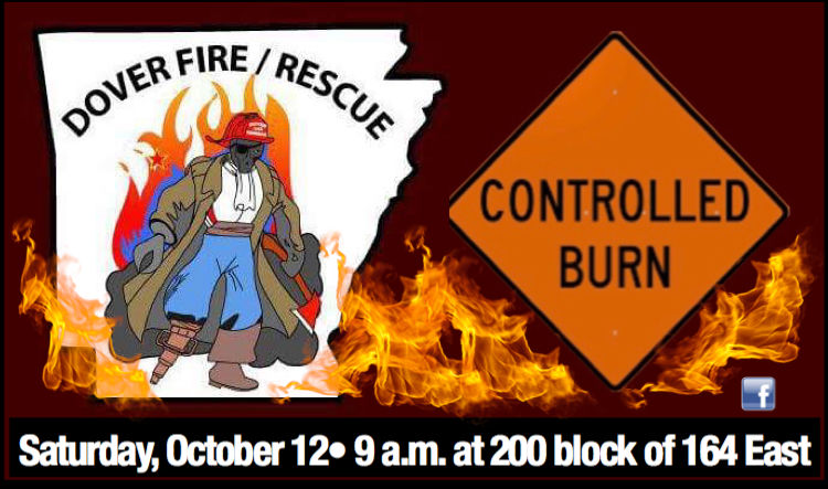 Dover City Fire Department announces controlled burn planned Saturday, October 12