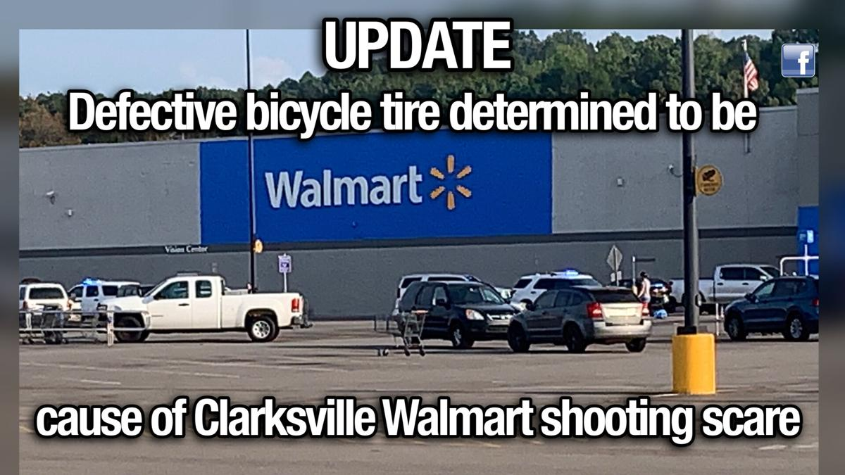 UPDATE: Defective bicycle tire determined to be cause of Clarksville Walmart shooting scare