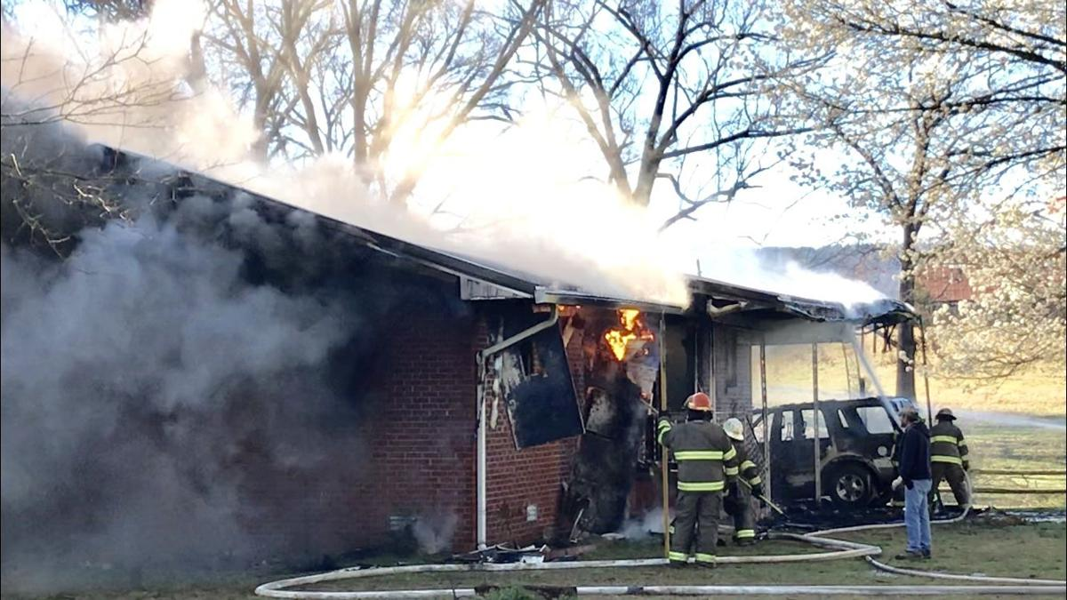 Local fire departments fight fires throughout the River Valley