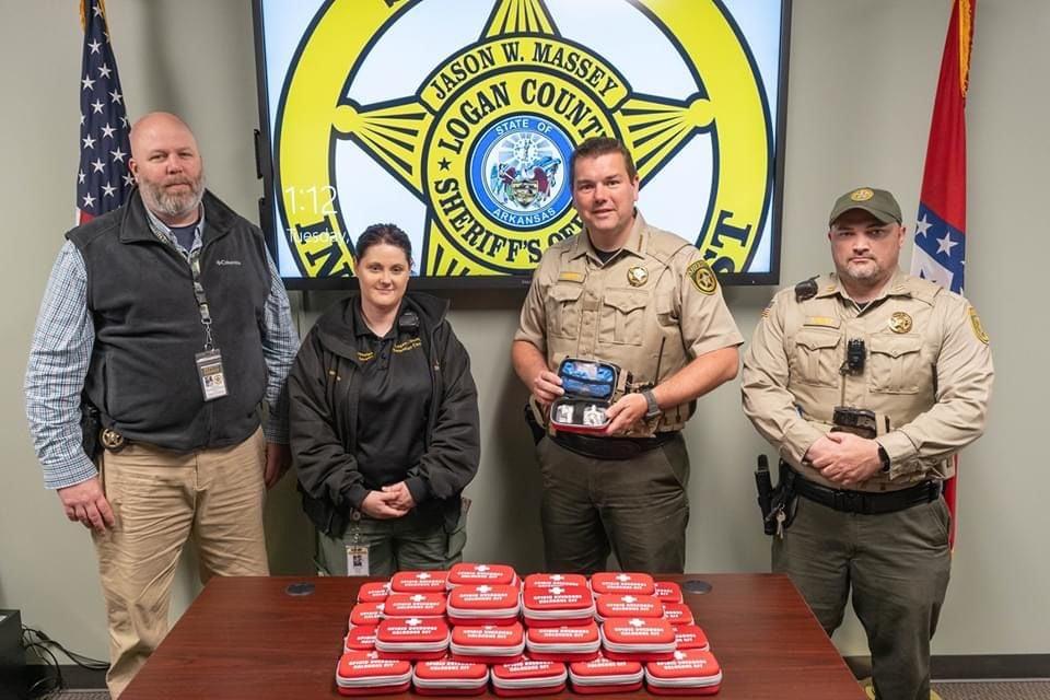 Logan County Sheriff's Office receives Opioid Overdose Naloxone Kits