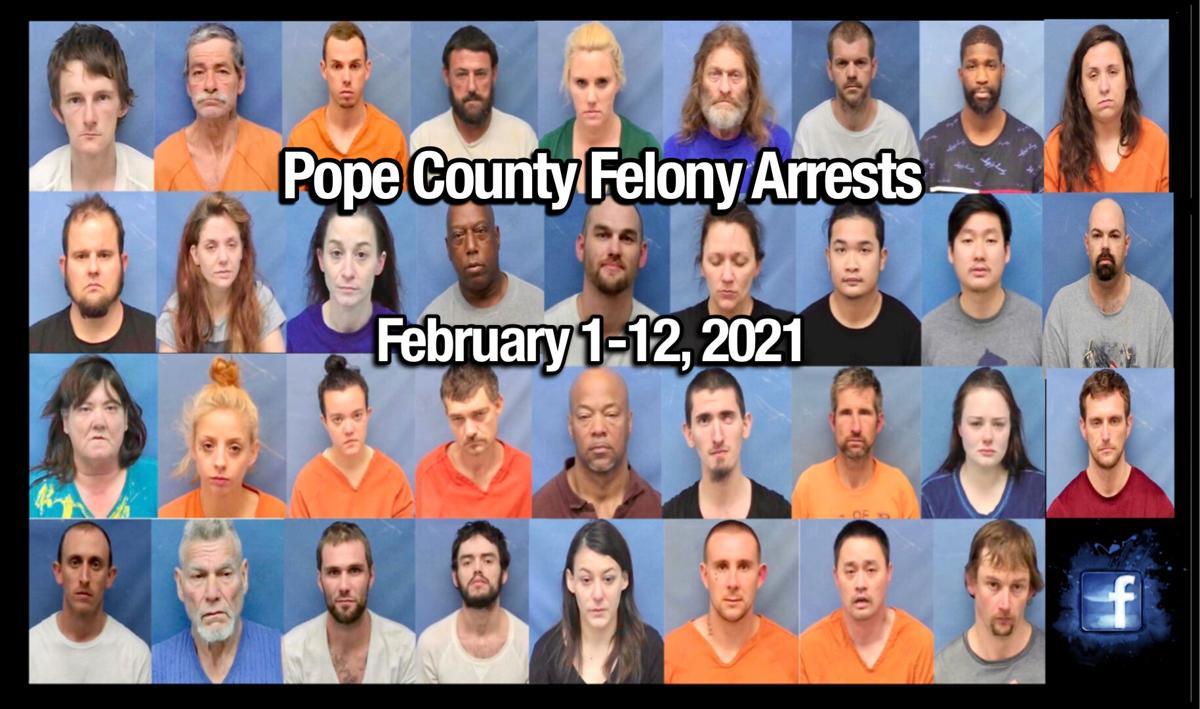 Bond Hearings: Pope County Felony Arrests ~ February 1-12, 2021