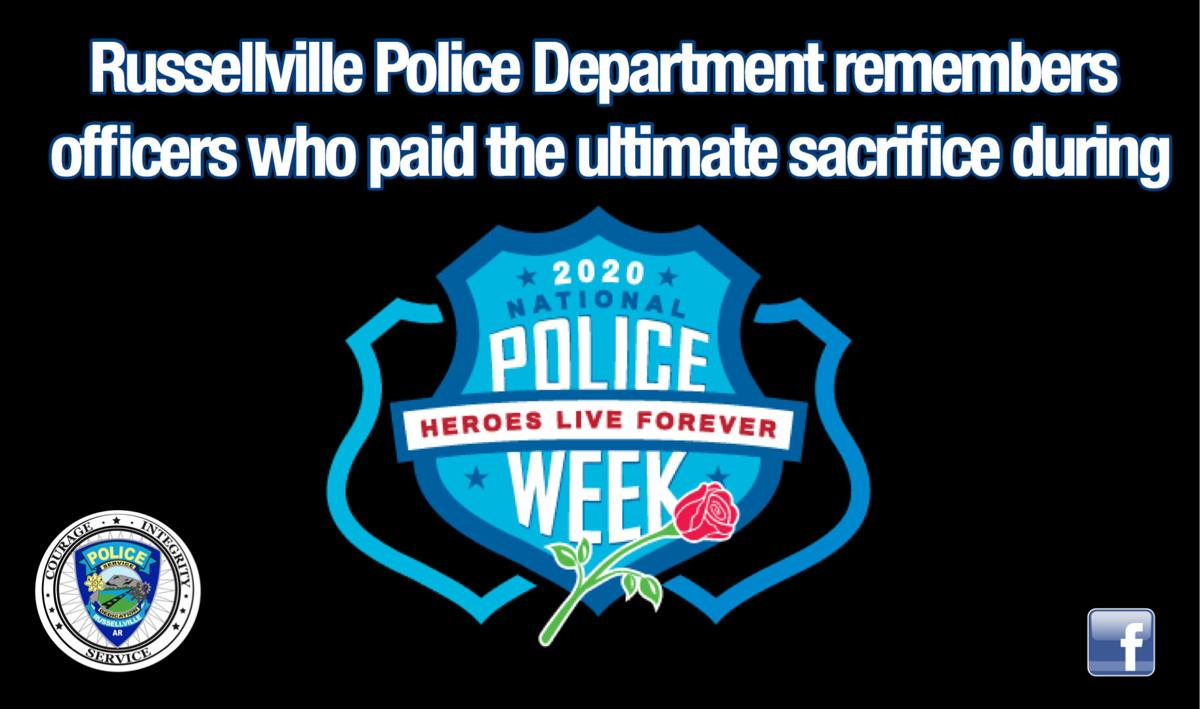 Russellville Police Department remembers officers who paid the ultimate sacrifice during