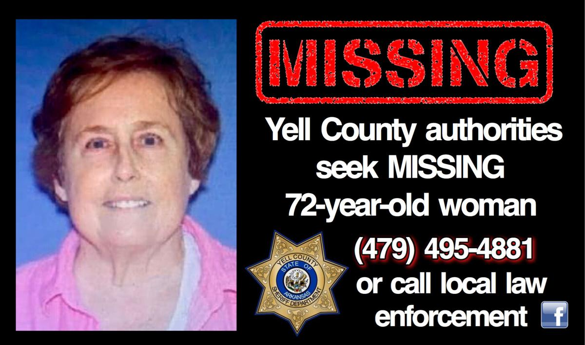 BREAKING: Yell County authorities seek MISSING 72-year-old woman