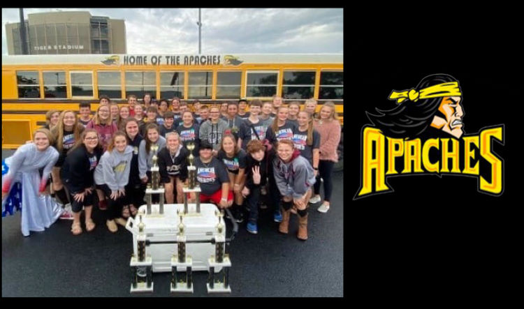 Pottsville High School Band receives several top awards at the Bentonville Invitational Marching Competition