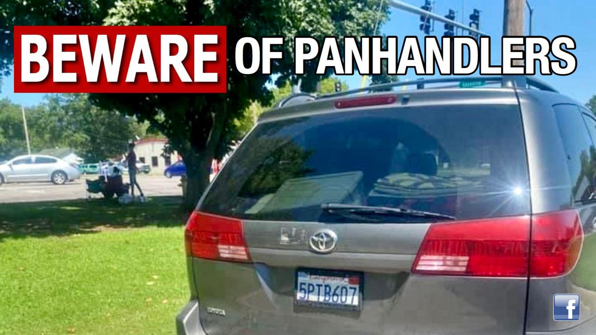 Local organization warns residents to 'beware of panhandlers'