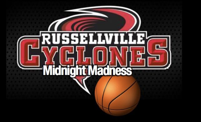 Russellville Cyclone Basketball Midnight Madness to be held Thursday, November 7th