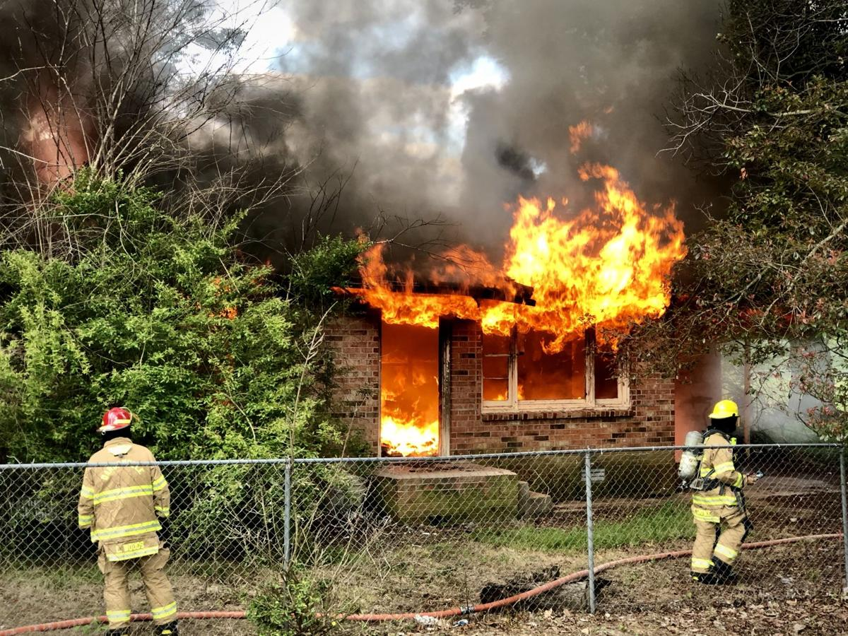 Dardanelle City Fire Department conducts controlled live burn training on South Front Street