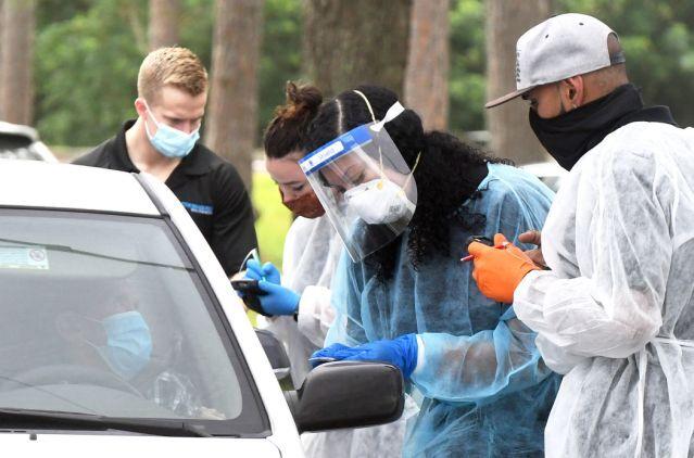 COVID-19 Rapid Testing In Orlando, Florida As Coronavirus Cases Rise