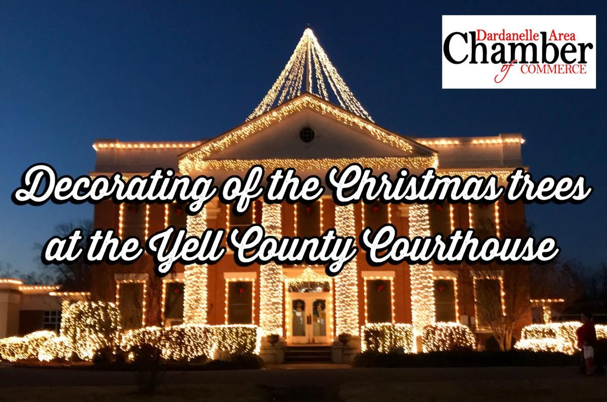 Photos: Decorating of the Christmas Trees at the Yell County Courthouse