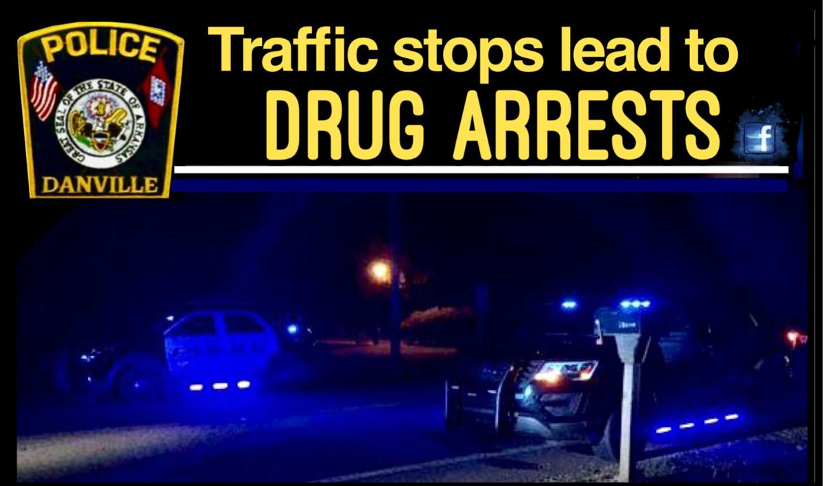 Danville traffic stops lead to drug arrests