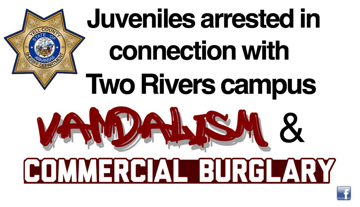 Juveniles arrested in connection with Two Rivers campus vandalism and commercial burglary