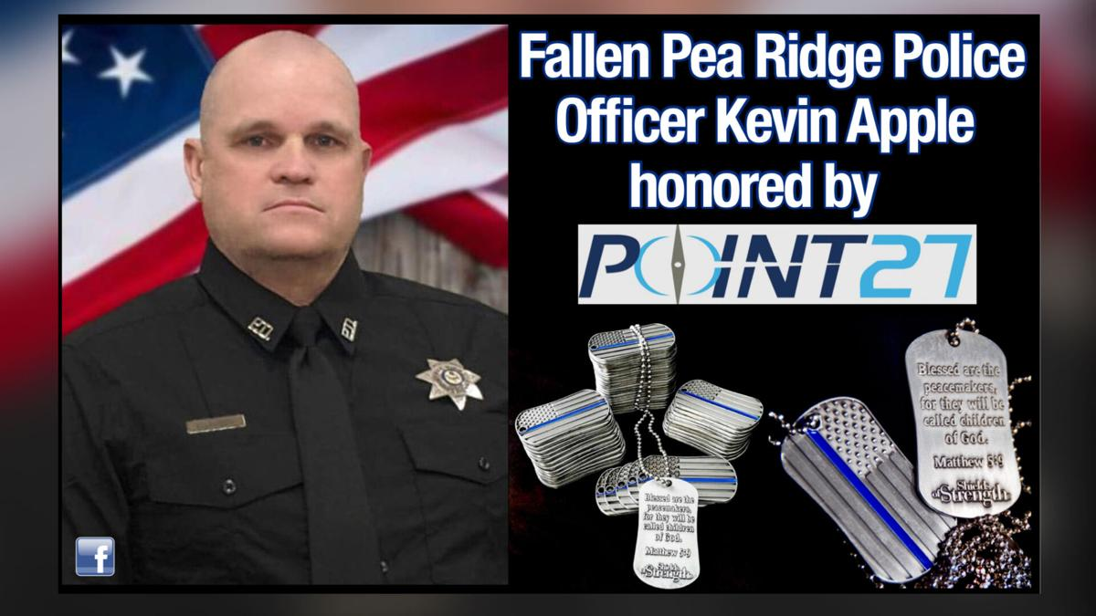 FallenPea Ridge Police Officer Kevin Apple Honored by Point 27