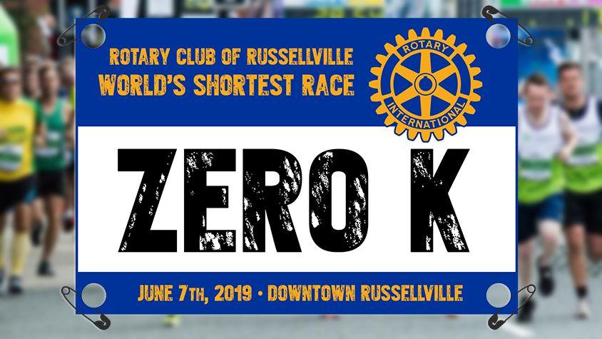 "Rotary Club of Russellville ""Zero K"" Registration Now Open"