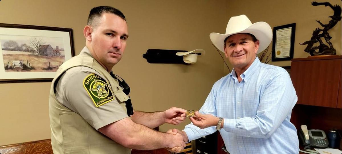 Johnson County Sheriff Jimmy Stephens announces recent promotion