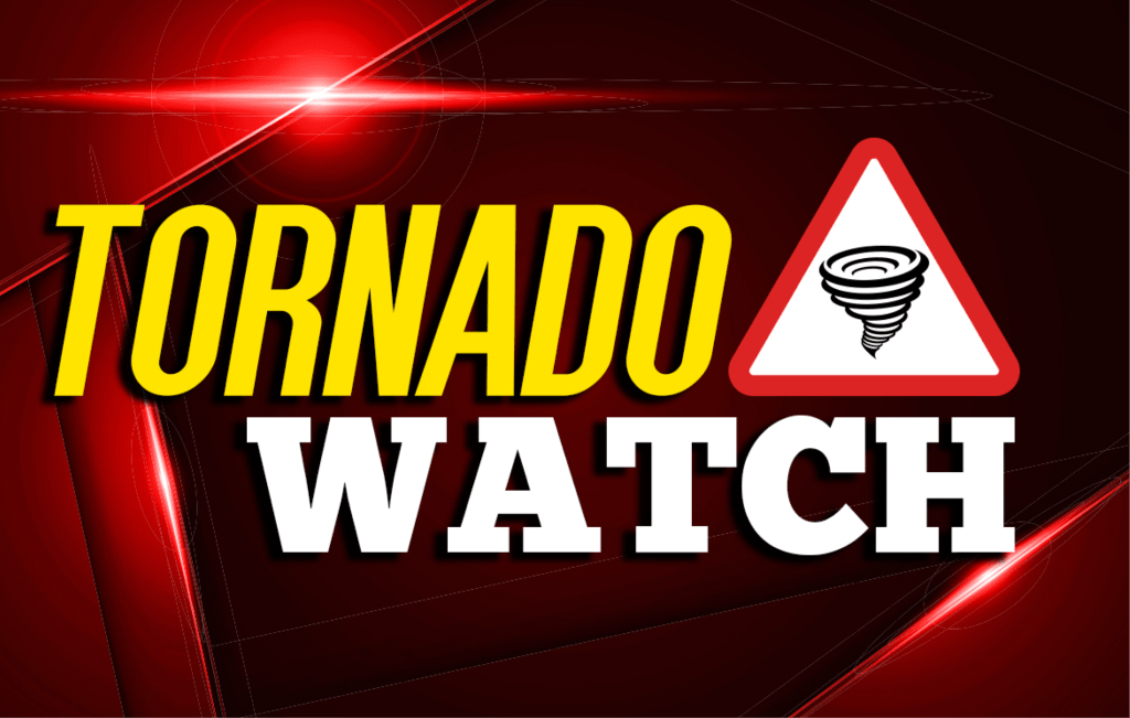 Tornado Watch in effect until 10 p.m.