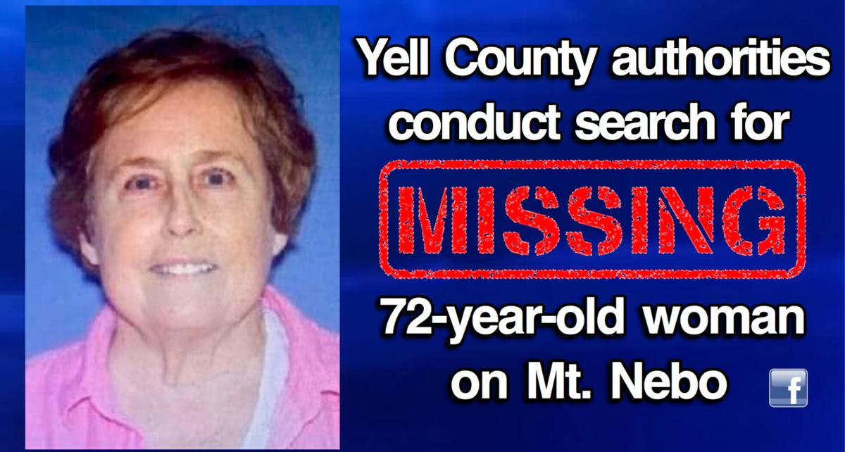 UPDATE: Yell County authorities conduct search for MISSING 72-year-old woman on Mount Nebo