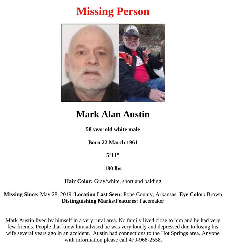 Pope County Sheriff's Office continues to seek information concerning missing Dover man