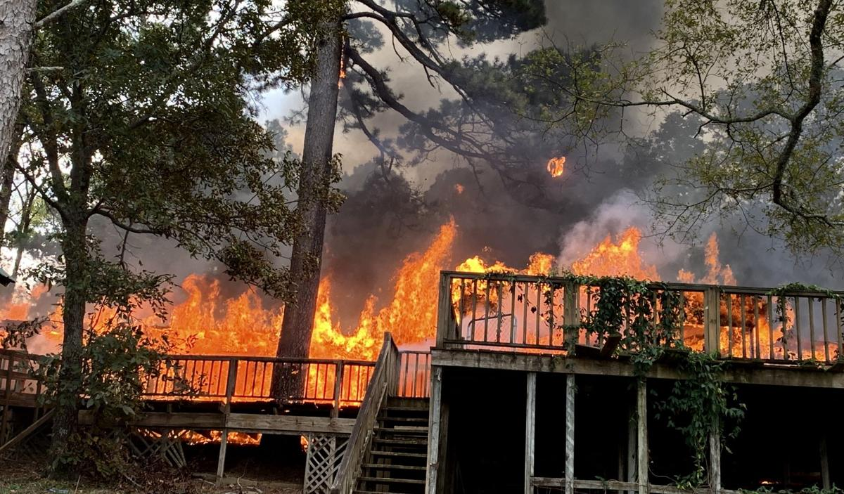Structure fire on Danville Mountain destroys vacant home