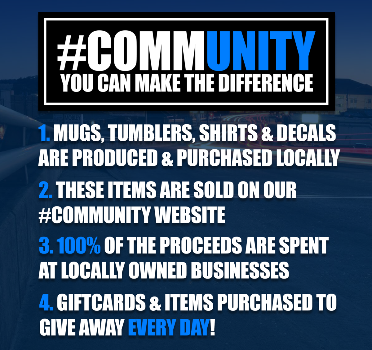 #commUNITY Campaign: How it works