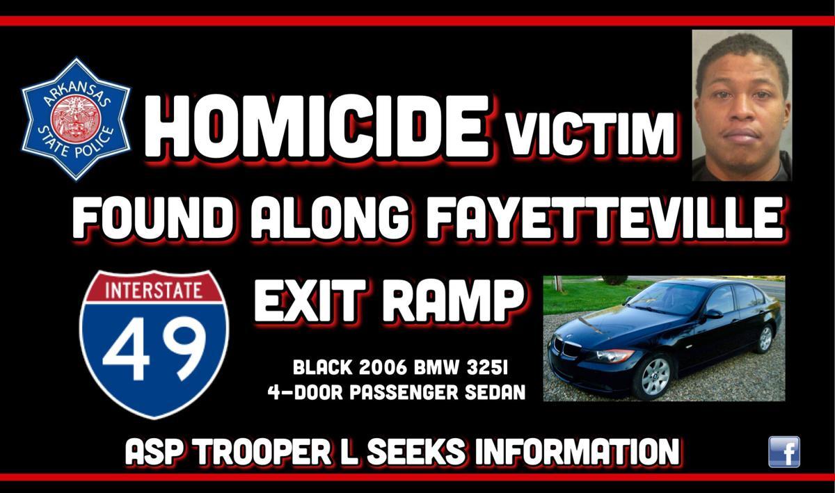 Homicide victim found along Fayetteville I-49 exit ramp