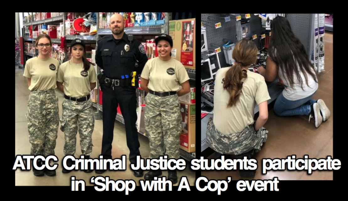 ATCC Criminal Justice students participate in 'Shop with A Cop' event