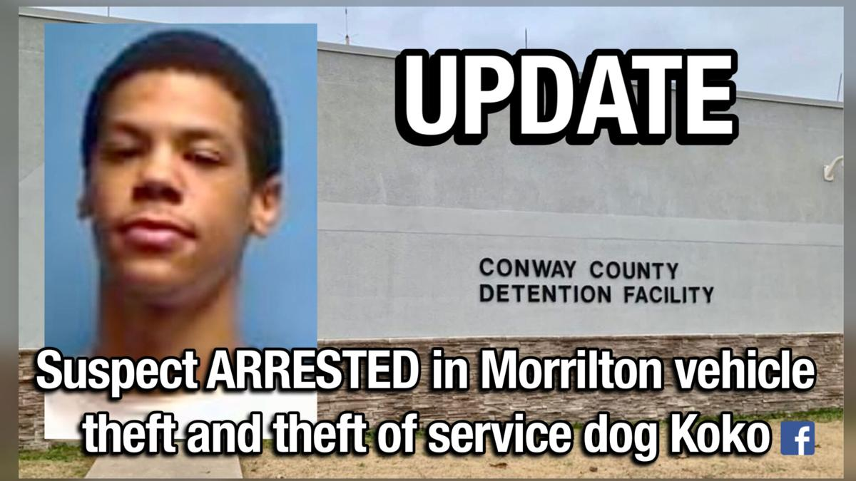 UPDATE: Suspect ARRESTED in Morrilton vehicle theft and theft of service dog