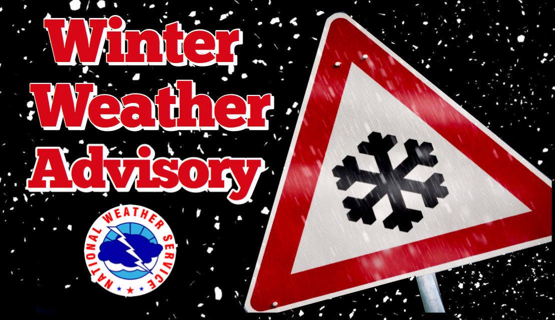 Winter Weather Advisory in effect from 6 a.m. Wednesday to 6 a.m.Thursday