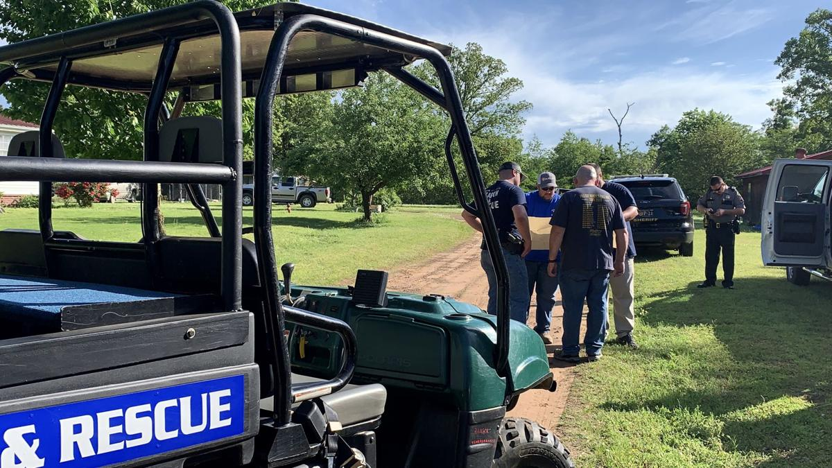 Pope County OEM Search & Rescue joined by Arkansas Alliance of Bloodhound Search Specialists in Tuesday evening search