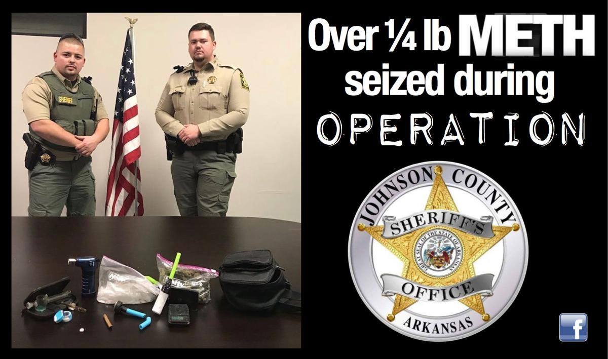 Over 1/4 pound of meth seized during Johnson County operation