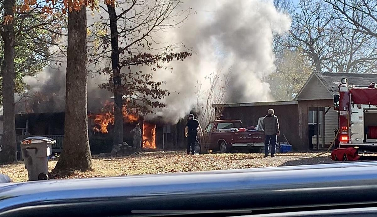 Dardanelle Fire Department fights structure fire on Hillside Drive