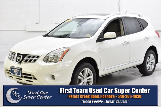 First Team Nissan >> 2013 Pearl White Nissan Rogue Suvs Roanoke Com