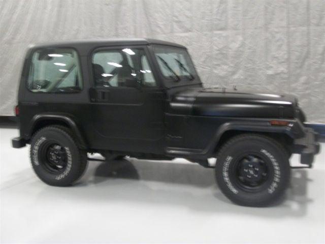 1990 Flat Black Jeep Wrangler