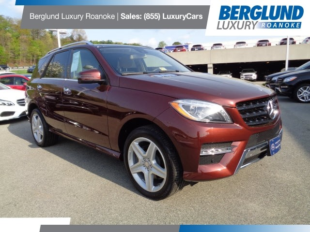 2015 Cinnabar red metal Mercedes-Benz M-Class