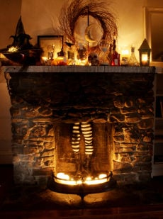 frugal magic steal this wicked halloween look for your fireplace - Halloween Fireplace