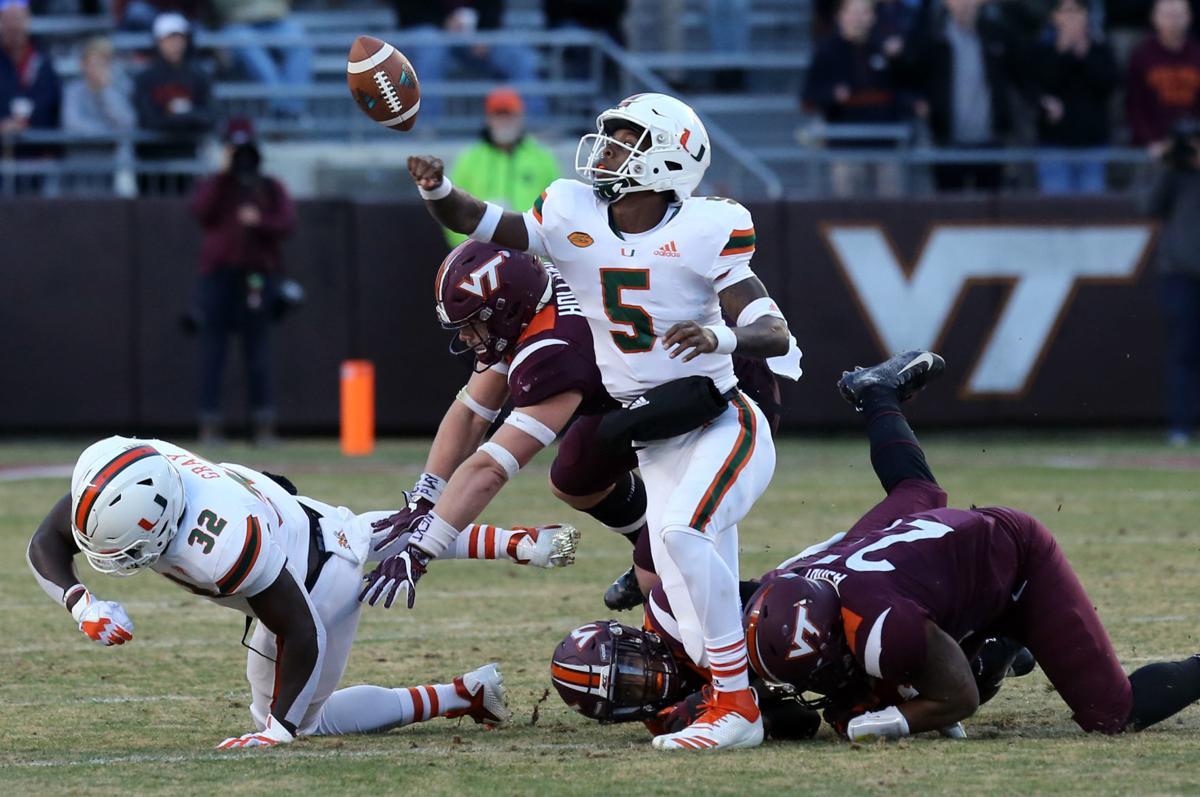 Virginia Tech Football Hokies Falter Against Miami In 2nd