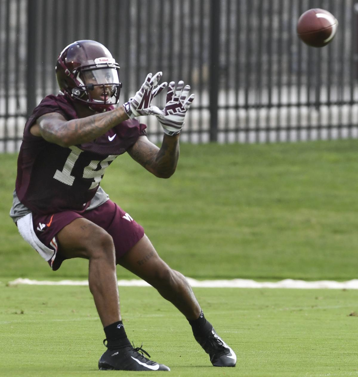 virginia tech football newcomer hazelton excited to see game action