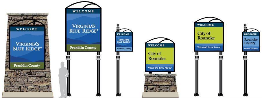 Visit Virginia's Blue Ridge signs