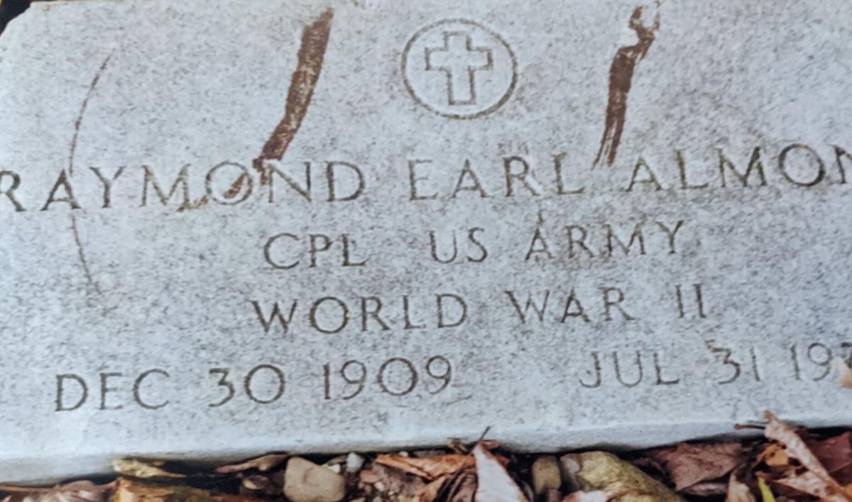 Grave marker in West Virginia