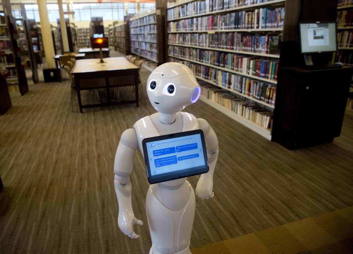 Roanoke County library adds Pepper, a 'community robot' | Local News