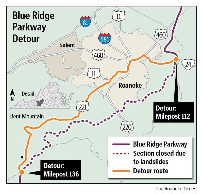 Parkway detour