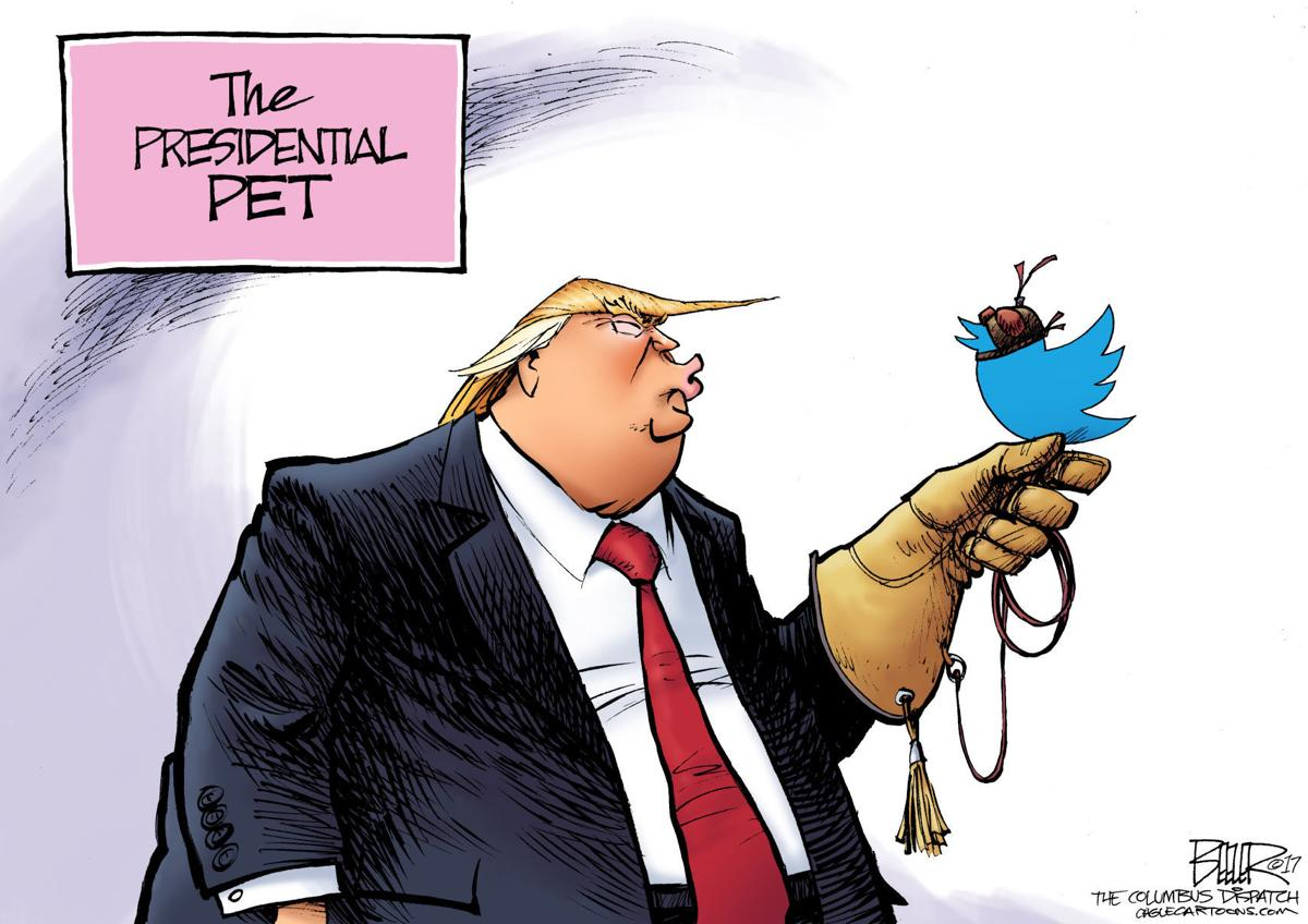 Image result for cartoons of TRUMP AS TWITTER USER