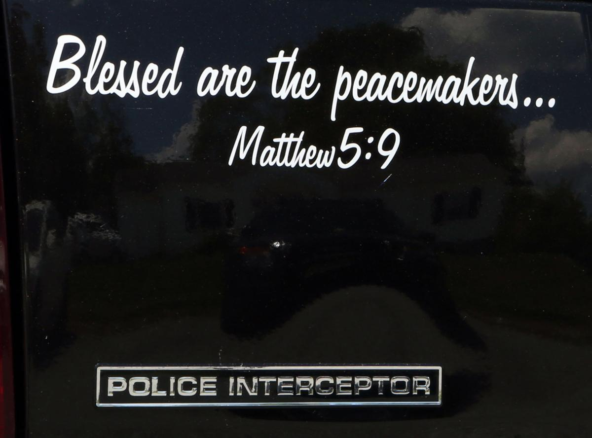 Peacemaker Quotes Bible Verse Decals To Come Off Patrol Cars Immediately Montgomery