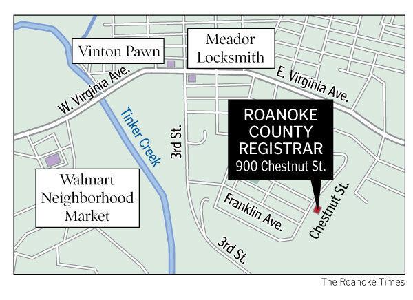 Roanoke County registrar
