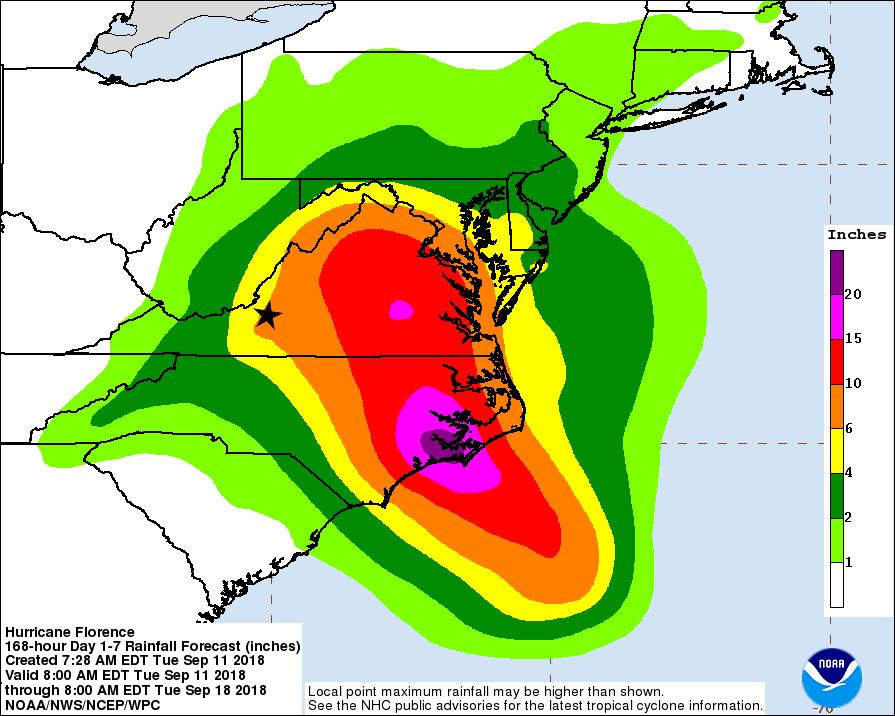 Tuesday night update: Hurricane warnings on coast; a bit later ...