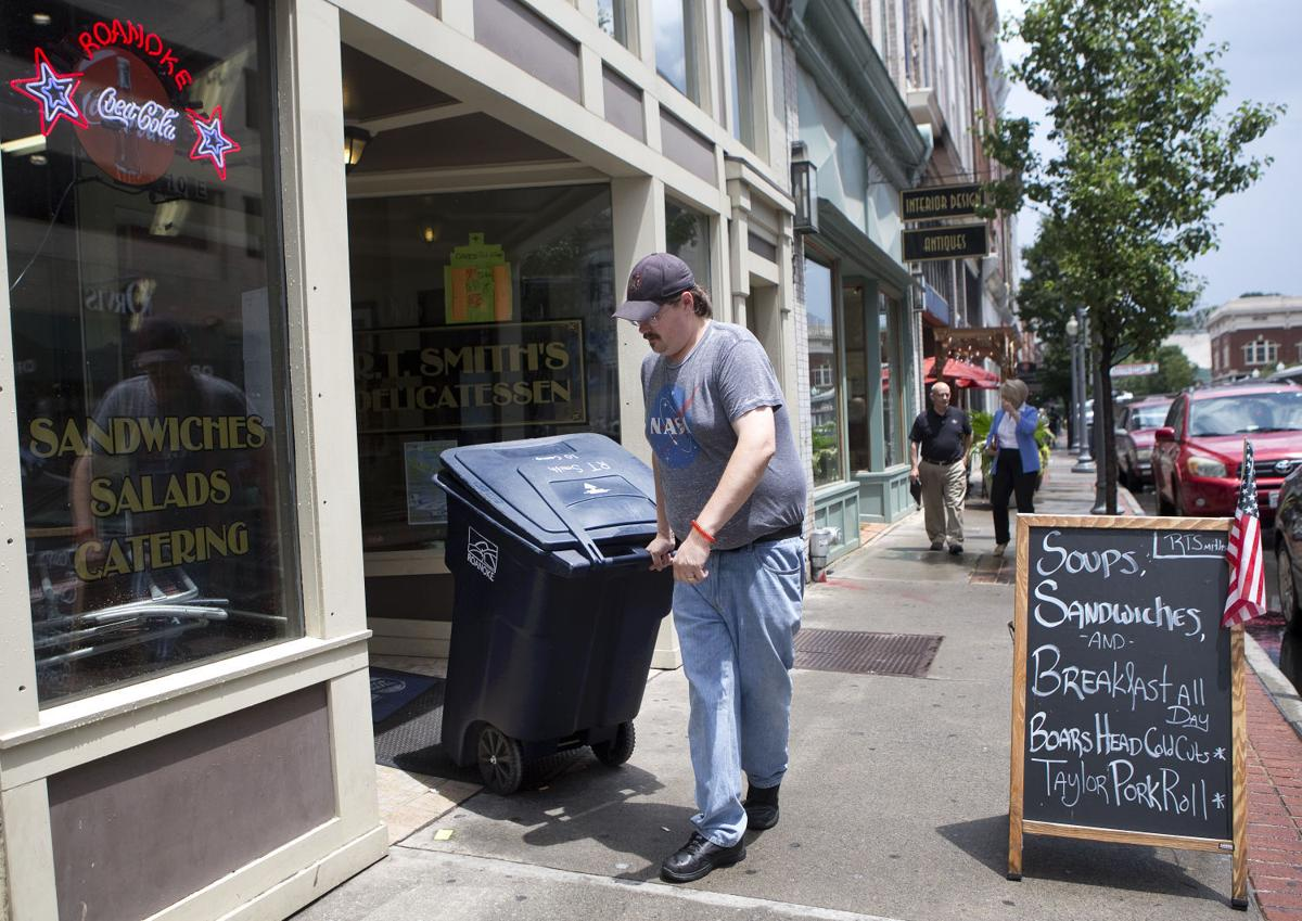 downtown roanoke trash compactors receive mostly positive reviews