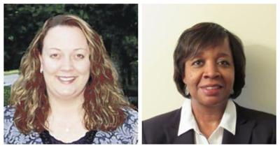 Bedford County School Board District 5 candidates Julie Bennington, left; Georgia Hairston, right.